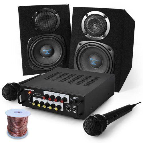 Electronic-Star Sistema Karaoke Pony Ranch, amplis, 2 Altavoces y 2 m
