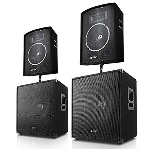 Electronic-Star Conjunto de 4 altavoces 1400W Home Cinema Hifi sourround