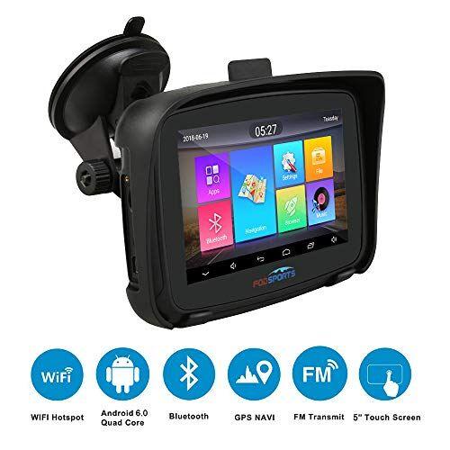 """FODSPORTS Navegador GPS para Motos con Pantalla táctil de 5"""", Android 6.0 GPS para Motocicletas Coche, Actualizaciones Mediante Wi-Fi, ROM 16GB Navegación"""