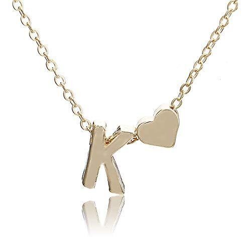 AAMOUSE Collar Sin Cuello Accesorios de Ropa de Las Mujeres Cadena de joyería Chocker ChokerCarta corazón Colgante Collar joyería Moda Mujer