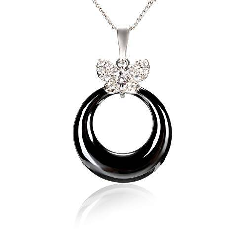 Byakov Collar Colgante de Piedras Preciosas Complemento Elegante y de Moda Complemento- Collar Colgante de Piedras genuinas para Mujeres 16 Inches