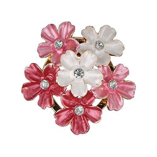 DTZH Broche de Moda de Calidad Hermosa de la Manera Que emparejan Las Mujeres complementos florecen Broche Ramillete