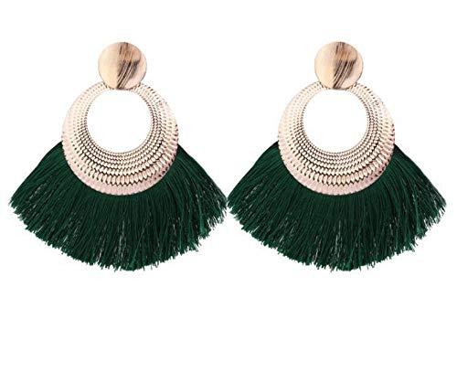 Jewelry CCF Borlas pendientes moda personalidad complementos verde bisutería.