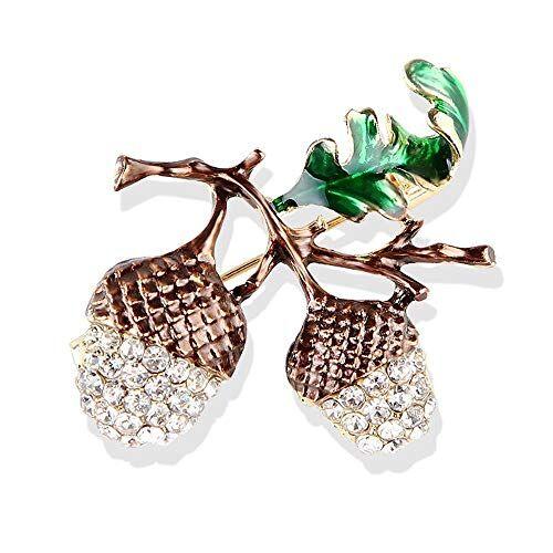 DTZH Broche de Moda de Calidad Broches para Ropa Mujer Diamantes de imitación Diamante Broche Hazel pinos Cono Cientos de complementos de Broche
