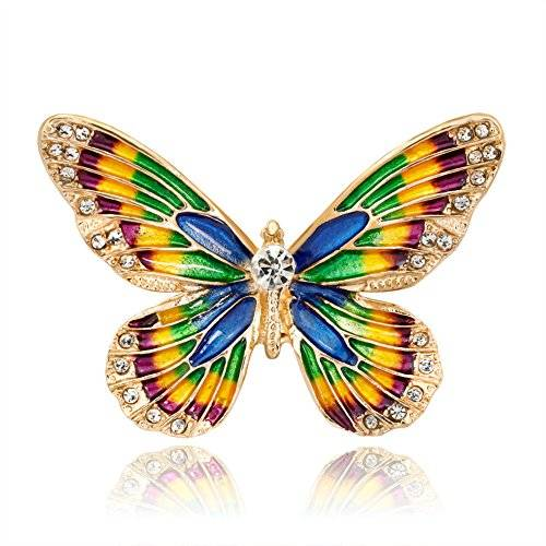 BIGBOBA Broche de Mujer de Forma Mariposa Broches Mujer/Niñas Decoración para Ropa Broches y Alfileres para Cumpleaños Festival Regalo de joyería de Broches
