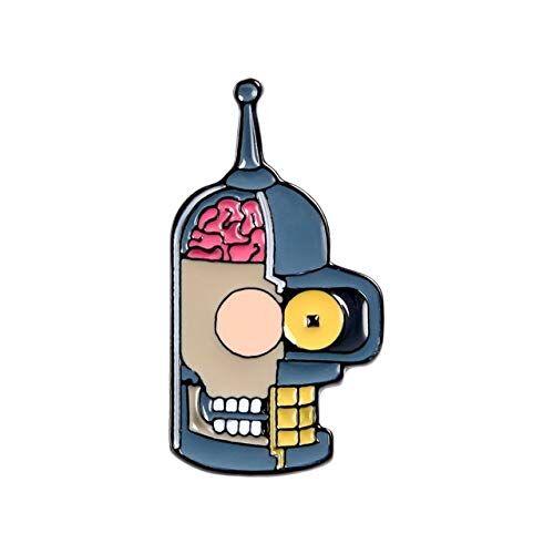 WEHONG Encantadores Alfileres De Esmalte De Dibujos Animados Divertidos Broches De Insignia De Dibujos Animados Bolsos Ropa Pin De Solapa Joyería De Moda RegaloStyle23