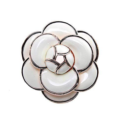 YAZILIND Simple Planta Flor Broche Pin Ropa Accesorios de la aleación de la Mujer Breastpin Corsage joyería #11