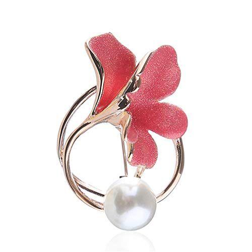 YAZILIND Flor Forma Broche Pin Elegante señoras Corsage Rhinestone Breastpin joyería Regalo Mujeres Accesorios de Ropa(#9)