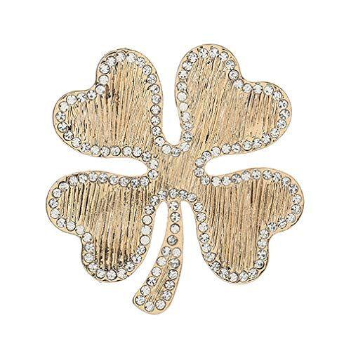 YAZILIND Elegante Rhinestone Flor Forma Pecho Pin Exquisito Broche Mujeres Corsage Ropa Accesorios joyería de Fiesta(#7)