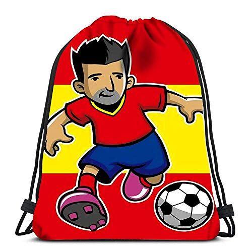 Lmtt La Mochila con cordón empaqueta el Jugador de fútbol de España de la cincha de los Deportes con la Bandera para el Gimnasio de la Escuela