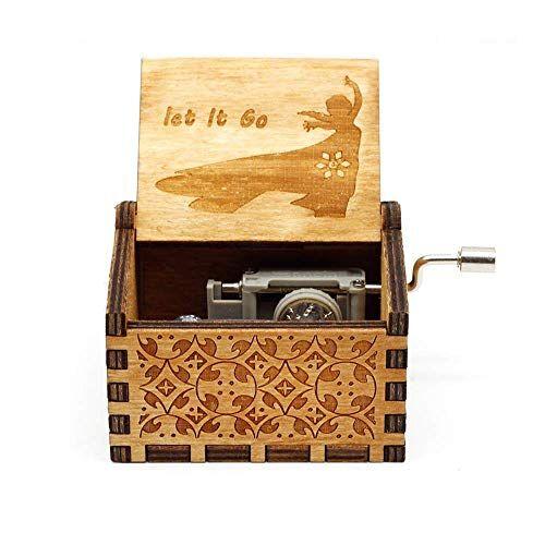 ToomLight 1 UNID Manivela de Madera Caja de música Harry Potter, Tema clásico de la película Hedwig CD Musical Melody Songs Boxes, Caja de Madera Antigua y Retro Tallada Kit de decoración