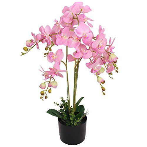 vidaxl planta artificial orqu dea con macetero 75