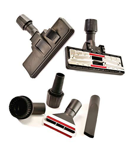 Menakker Spareparts Boquilla para aspiradora, boquilla de conmutación para alfombras y suelos lisos con juego de 4 boquillas adecuado para Dirt Devil DD 2221-0 Rebel 23 HE