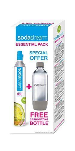 SodaStream Essential Botella para bebida carbonatada + Cargador carbonatador - Accesorio para máquina para soda