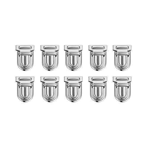 SUPERDANT 10Sets Broche de Bloqueo de Bloqueo de Hardware de Metal para DIY Bolso de Hombro Bolsa de Cierre Bolso Fabricación de Suministros, Platino