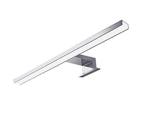 S'bagno Lámpara para Espejo LED Baño IP44 7.5W 750lm Lámpara Cabinet Espejo Lámpara de pared Luminaria de interior Baño 4000K Blanco Neutral 50cm
