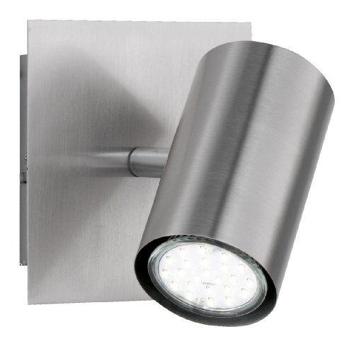 Trio Lighting Trio - Foco con 1 luz, bombilla excluida, GU10, 1,35 W, 230 V, A++, E, IP20, 15 x 12 x 12 cm, metal, níquel mate