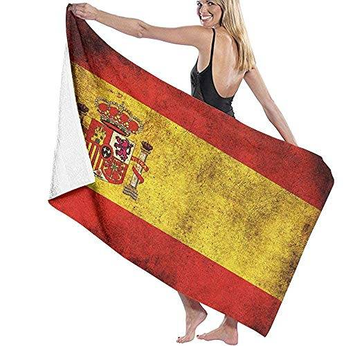 Tedtte Vintage España Bandera Toallas de baño para baño Ducha Deportes Gimnasio Camping Surf natación