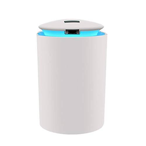 Nowakk Mini humidificador de Aire ultrasónico para el hogar, difusor de Aceite Esencial USB de luz Suave romántica, purificador de Coche, Aroma aniónico, Fabricante de Niebla - Blanco
