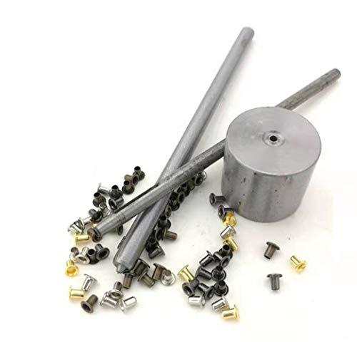 MYIW Kit de Herramienta de Ojetes,Mezcla de colores pequeños ojales con ojales para calzado, ropa, cuero, lona BJD ojales con herramientas de fijacion, paquete de 100 (2.5mm)