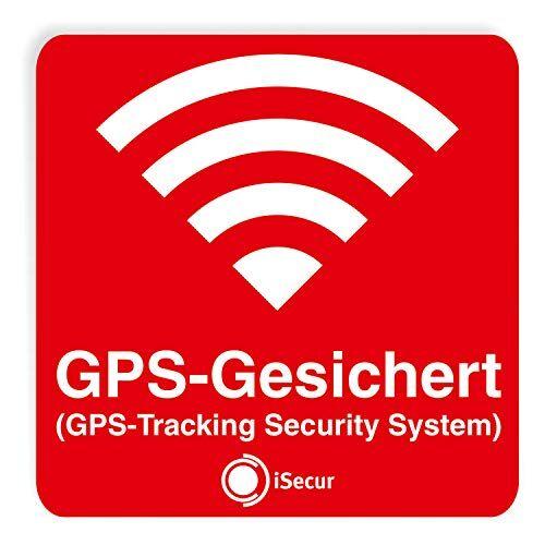 iSecur® '3pieza Pegatinas Alarma, GPS, isecur®, alarmgesichert, 60x 60mm, art. Hin 069_ exterior, Nota a GPS de copia, außenklebend para ventanas, coches, motos, camiones, vehículos de construcción