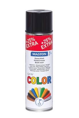 Maston Spraymaali Maston Color, Kiiltävä musta 500 ml