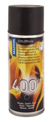 Maston Kuumakestomaali Maston COLORmix 600 °C  musta 400 ml Musta