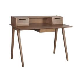 Kirjoituspöytä SHELBY 120x60cm, ruskea mdf ja kumipuu