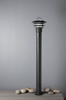 Airam Käpylä mini p 1100 ip44 e27 60w, musta