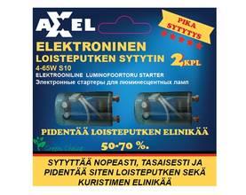 Axxel Loisteputkensytytin 2 kpl sarja Elektroninen, A-class, pika
