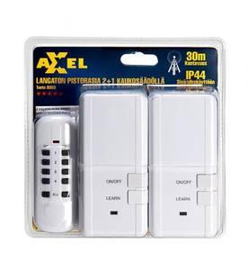 Axxel Kauko-ohjattava pistorasia ulkokäyttöön 2 kpl Kaukosäätimellä! IP44