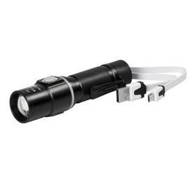 Axxel Ladattava LED käsivalo 3W cree Zoom 100 m, 125 lm, 18650 battery