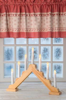 Airam Silja led-kynttelikkö 7-kynttilää Airam puunvärinen