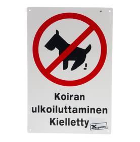 Xpert Opaste Koiran ulkoiluttaminen kielletty