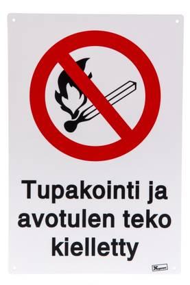 Xpert Opaste Tupakointi ja avotulen teko kielletty