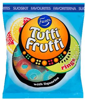 Fazer Tutti Frutti rings 180 g Pussi