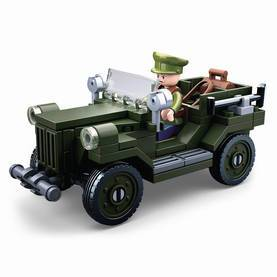 Rakennuspalikat WWII Sarja GAZ-67 Allied Light Truck
