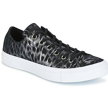 Image of Converse Kengät CHUCK TAYLOR ALL STAR SHIMMER SUEDE OX BLACK/BLACK/WHITE