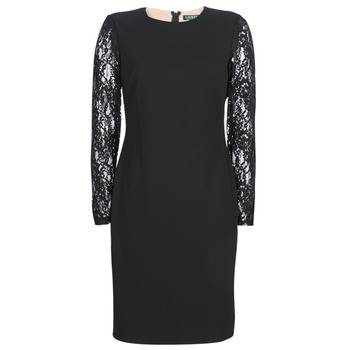 Image of Ralph Lauren Lyhyt mekko LACE PANEL JERSEY DRESS