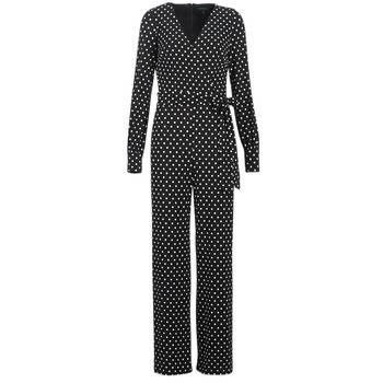 Image of Ralph Lauren Jumpsuits POLKA DOT WIDE LEG JUMPSUIT