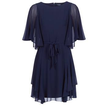 Image of Ralph Lauren Lyhyt mekko NAVY-3/4 SLEEVE-DAY DRESS