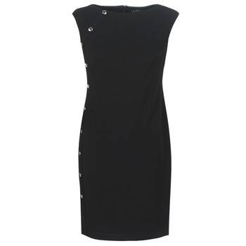 Image of Ralph Lauren Lyhyt mekko BUTTON-TRIM CREPE DRESS