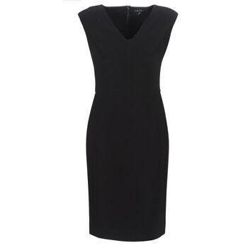 Image of Ralph Lauren Pitkä mekko BLACK CAP SLEEVE DAY DRESS