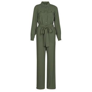 Image of Michael Kors Jumpsuits ROLL SLV SAFARI JMPST