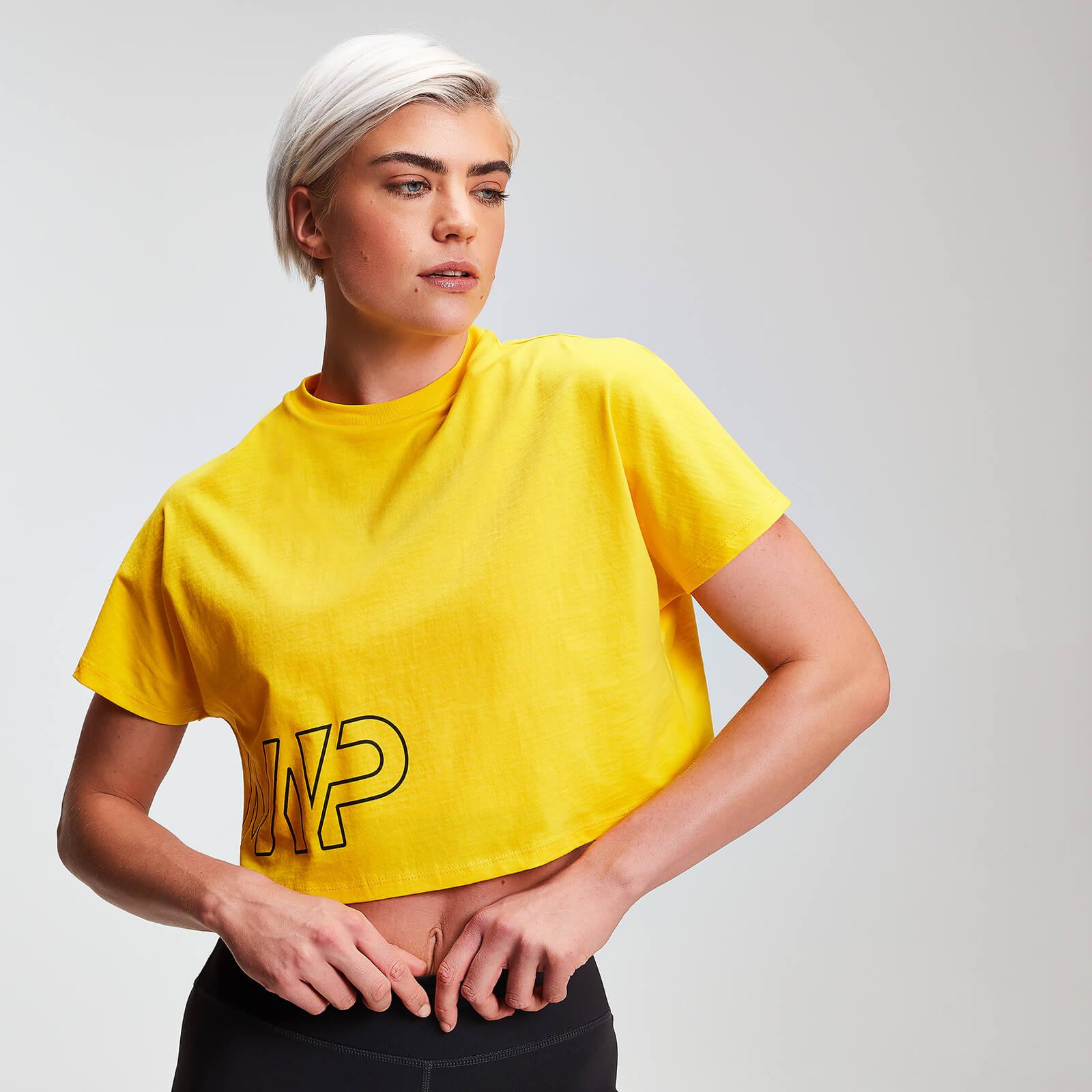 Myprotein Naisten MP Power Cropped T-Paita - Buttercup - XS
