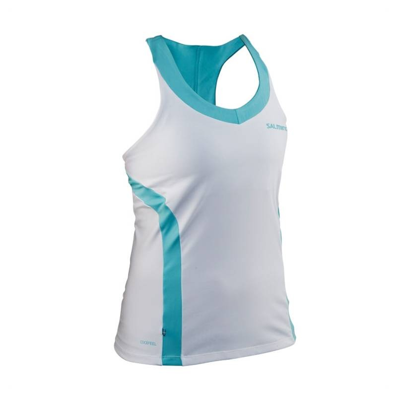 Salming Strike Tank Top White XS