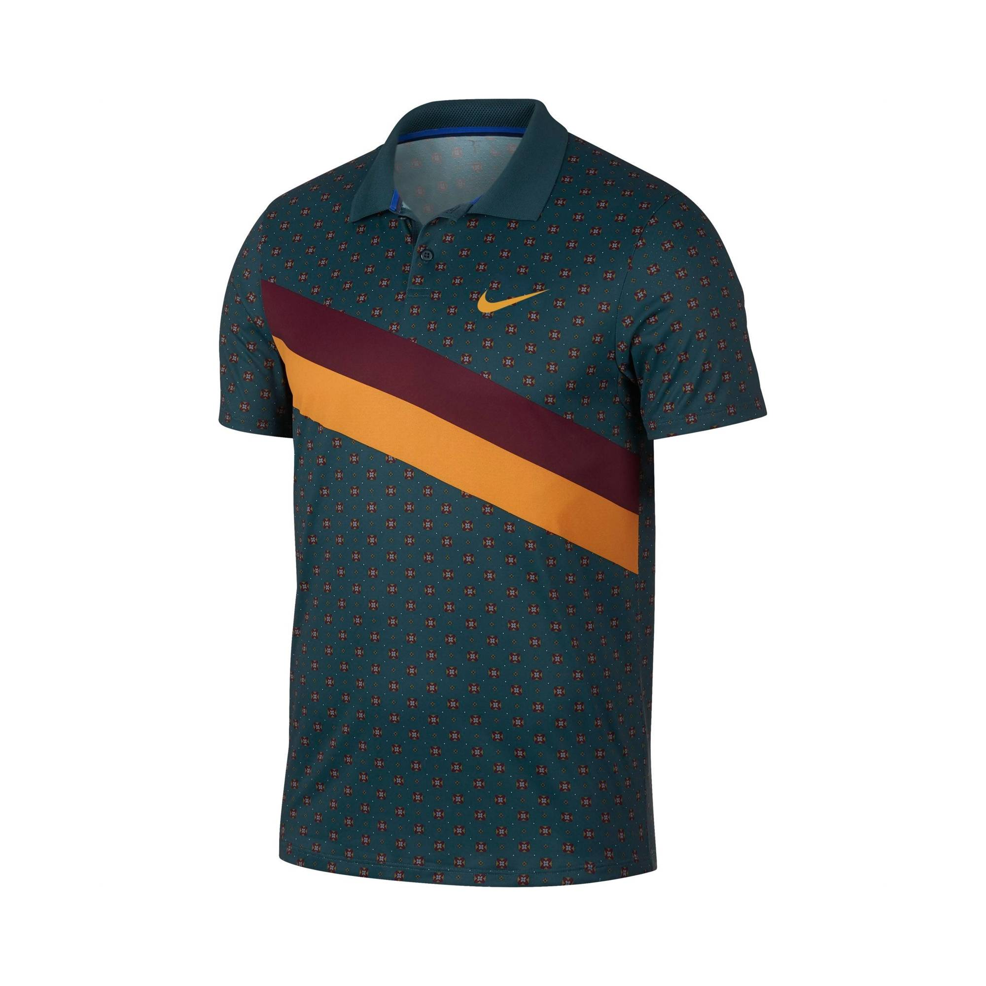 Nike Dri-Fit Polo Nightshade/Canyon Gold S