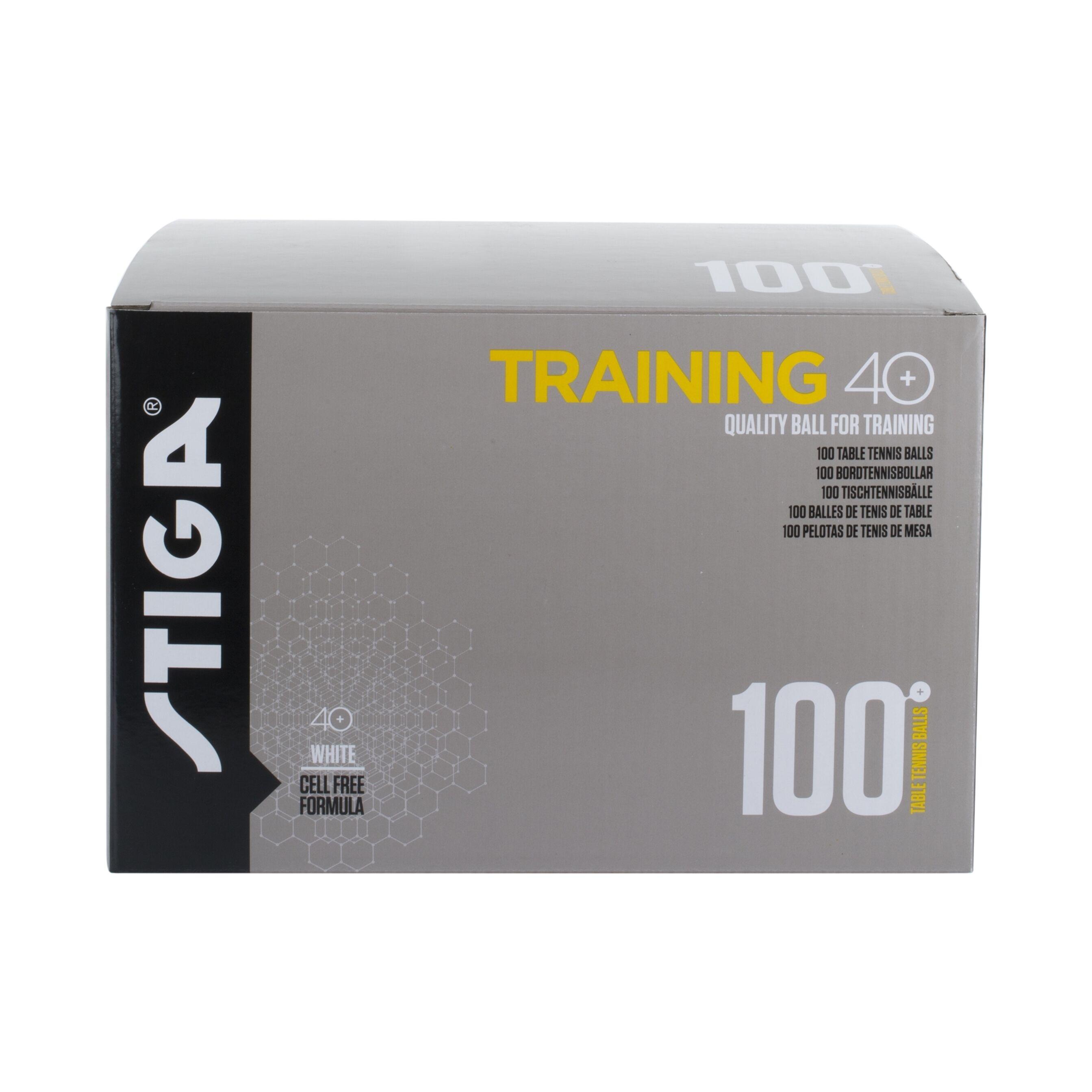 Stiga Trainer ABS White 100 palloja