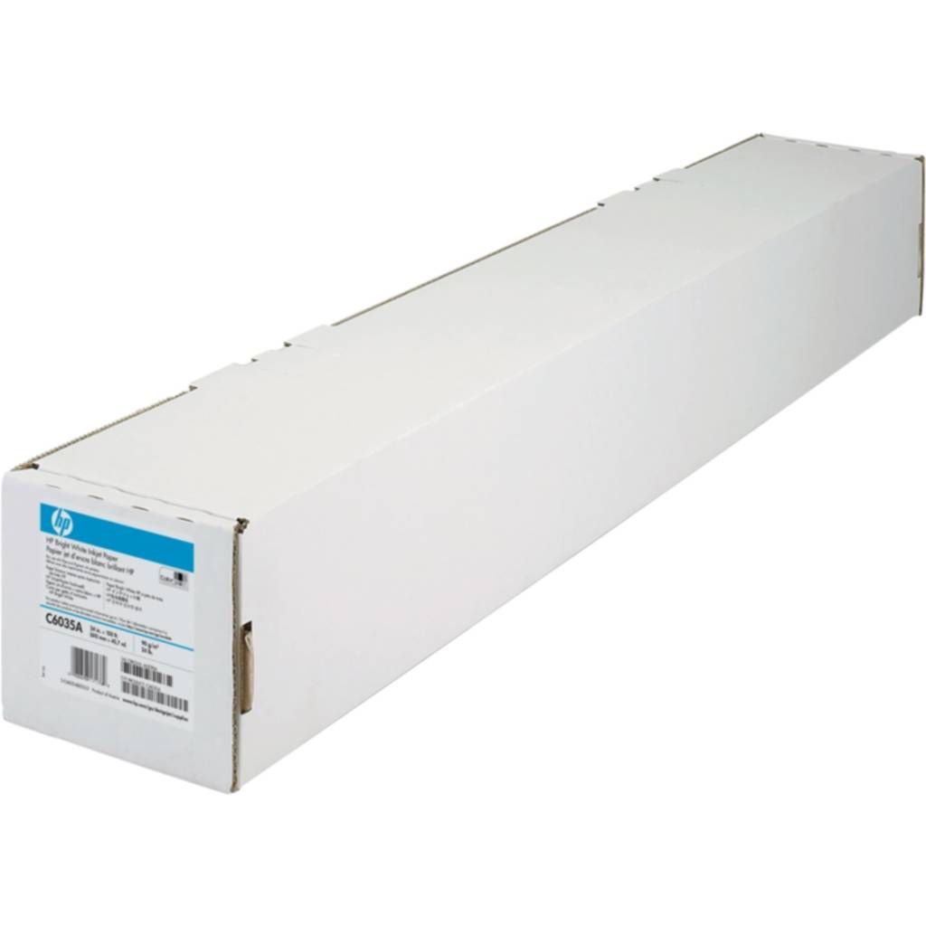 HP Bright White Paper 24 in. x 150 ft/610mm C6035A Replace: N/A