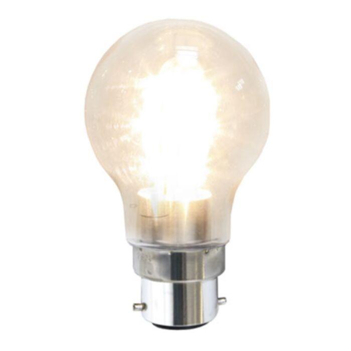 Star Trading Sisustus LED kirkas PC-muovi B22 2100K 1,6W(15W) 356-55-2 Replace: N/A